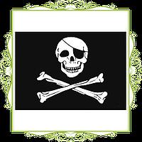 Флаг пиратский Веселый Роджер 90х60