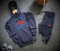 Спортивный костюм мужской The North Face x navy осенний весенний | ТОП качество, фото 1
