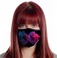 Защитная маска для лица многоразовая (хлопок, с карманом), фото 1