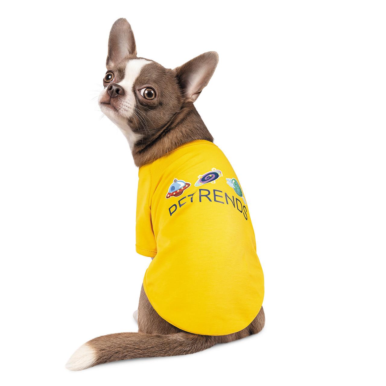 Футболка для собачки Pet Fashion Галактика желтая M