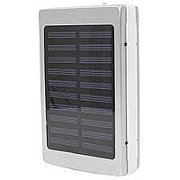 Внешний аккумулятор Power bank Solar PB-6 с солнечной панелью 6000 мАч стробоскоп Silver, КОД: 1290384