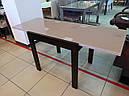 Стіл обідній Слайдер Венге зі склом Бежевий,81,5 (+81,5)*67см, фото 10