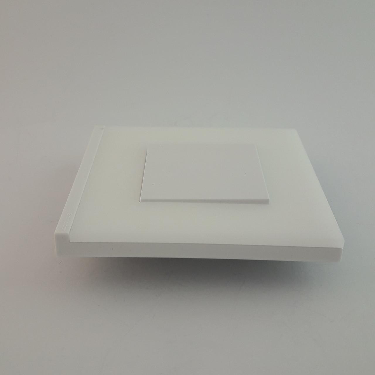 Рамка 4 постовая Unica Pure, матовое белое стекло, 4х2 модуля