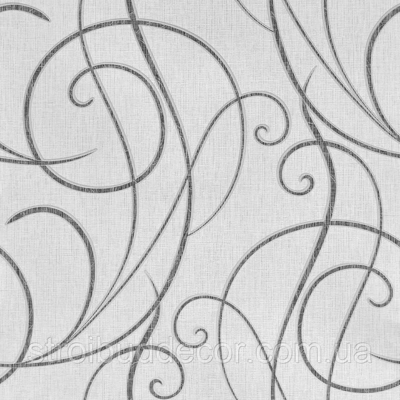 Обои плотные бумажные  0,53*10,05 Эко лайн серый узор