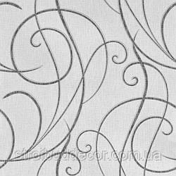 Щільні паперові шпалери 0,53*10,05 Еко лайн сірий візерунок