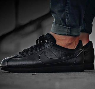 Мужские кроссовки Nike Cortez Classic Leather Black