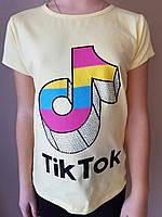 Футболка Tik Tok для девочек оптом, 6/7-13/14 лет. Артикул: 11065-лимонный