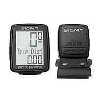 Велокомпютер бездротовий Sigma Sport BC 7.16 Ats Black SKL35-238508