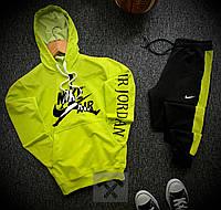 Спортивный костюм мужской Nike AIR x green осенний весенний Найк | ТОП качество, фото 1