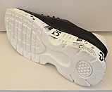 Кроссовки черные кожаные женские на толстой подошве от производителя модель ЛИ113-2, фото 3