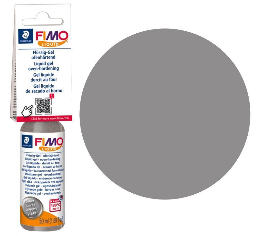 Жидкая пластика - гель, Серебро, 50 мл, Fimo