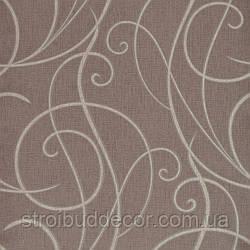 Щільні паперові шпалери 0,53*10,05 Еко лайн коричневий візерунок