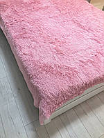 Меховое покрывало Травка Розовое 220*240/Покрывало с длинным ворсом/покрывало на большую кровать