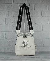 Стильный мини рюкзак-сумка Balenciaga 90681 молочный, фото 1