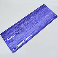 Коврик для фитнеса и йоги Резиновый Zelart 0567 4мм фиолетовый