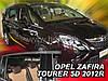 Дефлектори вікон (вставні!) вітровики Opel Zafira C 2012-2018 4шт., HEKO, 25329, фото 2