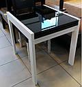 Стол обеденный Слайдер белый со стеклом(ультрабелый),100(+100)*82см, фото 6