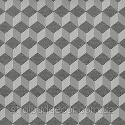 Щільні паперові шпалери 0,53*10,05 Еко 3Д ромб сірий