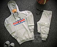 Спортивный костюм мужской Lacoste x grey весенний осенний | ТОП качество, фото 1