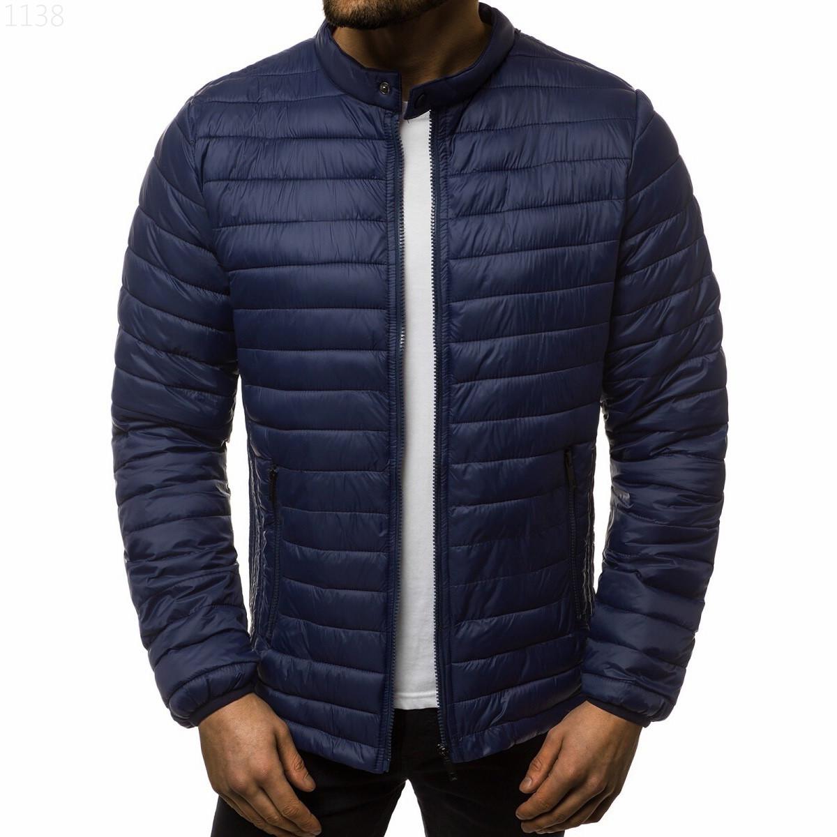 Куртка мужская на весну и осень из качественного полиэстера синего цвета