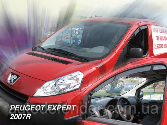 Дефлекторы окон (вставные!) ветровики Peugeot Expert II 2007-2016 2шт., HEKO, 26116