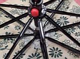Женский мини зонт механика 8 спиц  цвет синий рисунок цветы, фото 2