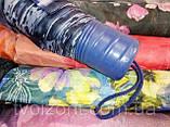 Женский мини зонт механика 8 спиц  цвет синий рисунок цветы, фото 4