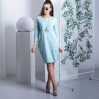Хлопковое базовое платье нежно-голубого цвета Италия FM 4872