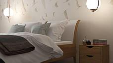 Двоспальне ліжко WoodSoft Norden 160x200, ясень (Nord160200JAS), фото 3