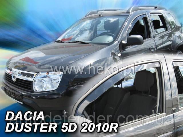 Дефлектори вікон (вставні!) вітровики Renault Duster I 2010-2017 4шт., HEKO, 13108
