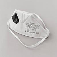 Респіратор маска 3M FFP2 c клапаном білий (захист класу ФФП2 k112), фото 1