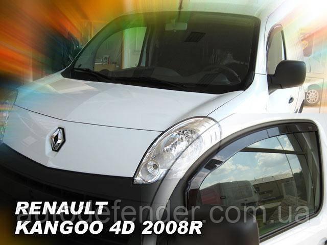 Дефлекторы окон (вставные!) ветровики Renault Kangoo II 2008-2020, HEKO, 27168