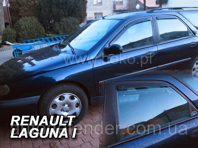 Дефлекторы окон (вставные!) ветровики Renault Laguna I 1994-2000 5D 4шт., HEKO, 27124