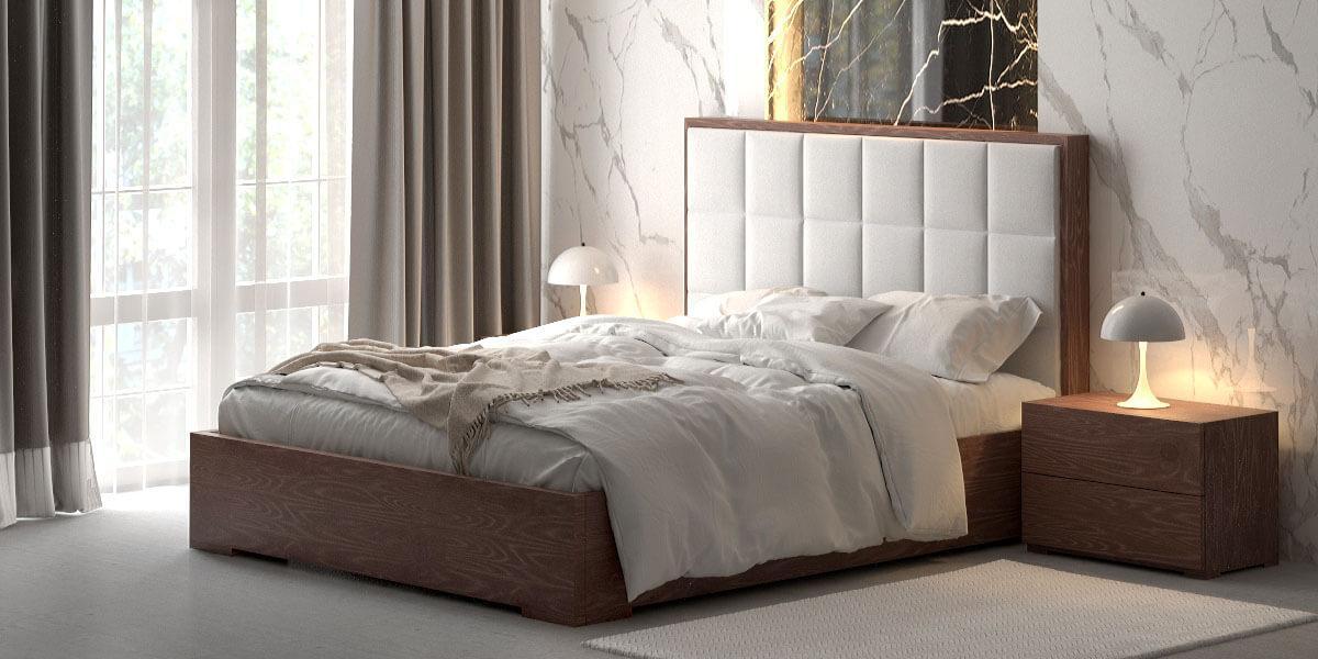 Двоспальне ліжко WoodSoft Porto з підйомним механізмом 160x200, ясень (PortoPM160200JAS)