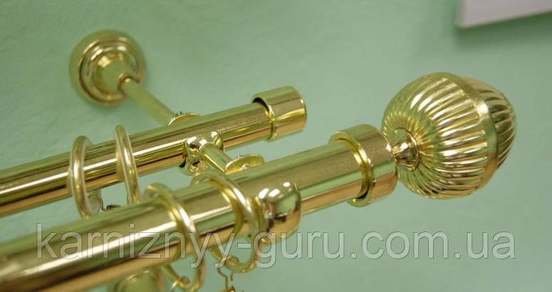 Карниз для штор двойной ø 25+16 мм, наконечник Одеон