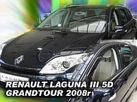 Дефлекторы окон (вставные!) ветровики Renault Laduna III 2007-2015 Grandtour 4шт., HEKO, 27167