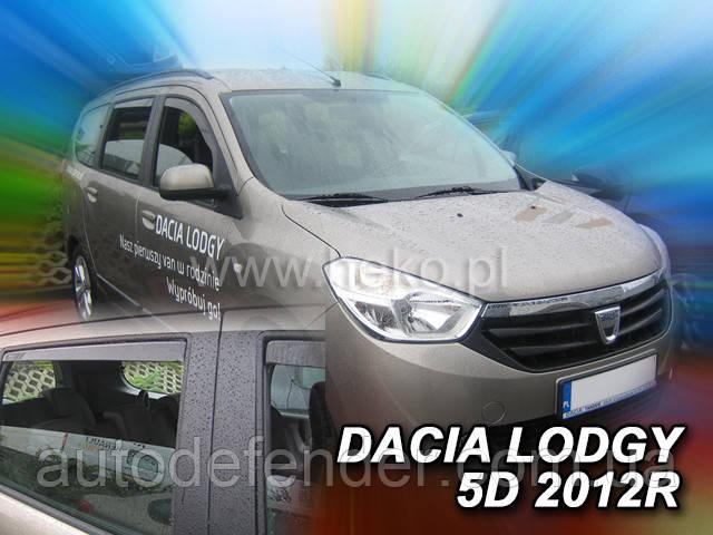 Дефлекторы окон (вставные!) ветровики Renault Lodgy 2012-2020 4шт., HEKO, 13110