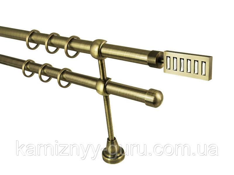 Карниз для штор ø 19+19 мм, наконечник Эскала