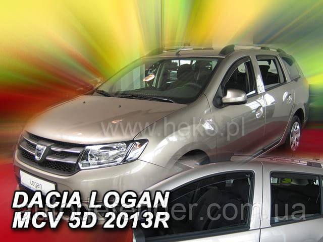 Дефлектори вікон (вставні!) вітровики Renault Logan II 2013-2021 MCV 5D 4шт., HEKO, 13114