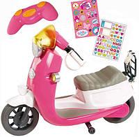 Скутер Мопед для куклы Беби Борн BABY BORN 824771 City RC Scooter, Pink