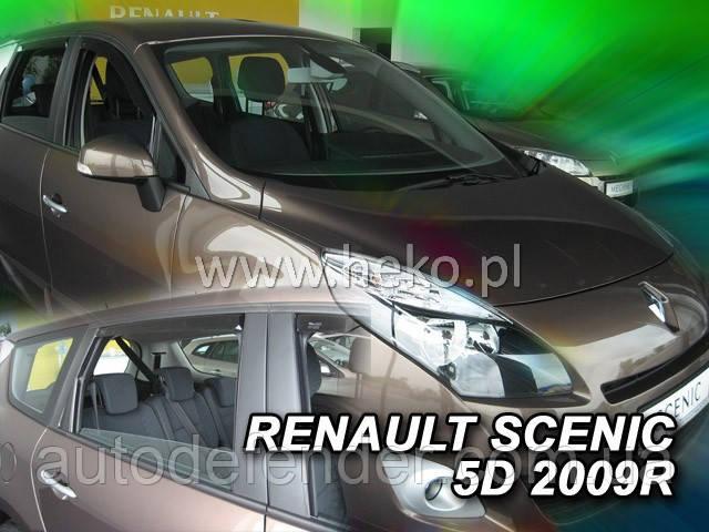 Дефлекторы окон (вставные!) ветровики Renault Scenic III 2009-2016 4шт., HEKO, 27180
