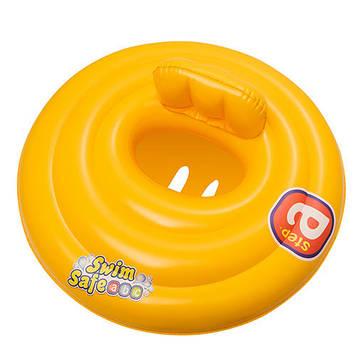 BW Плотик 32096 (12шт) детский, надувной, желтый, 69 см,, Оригинал