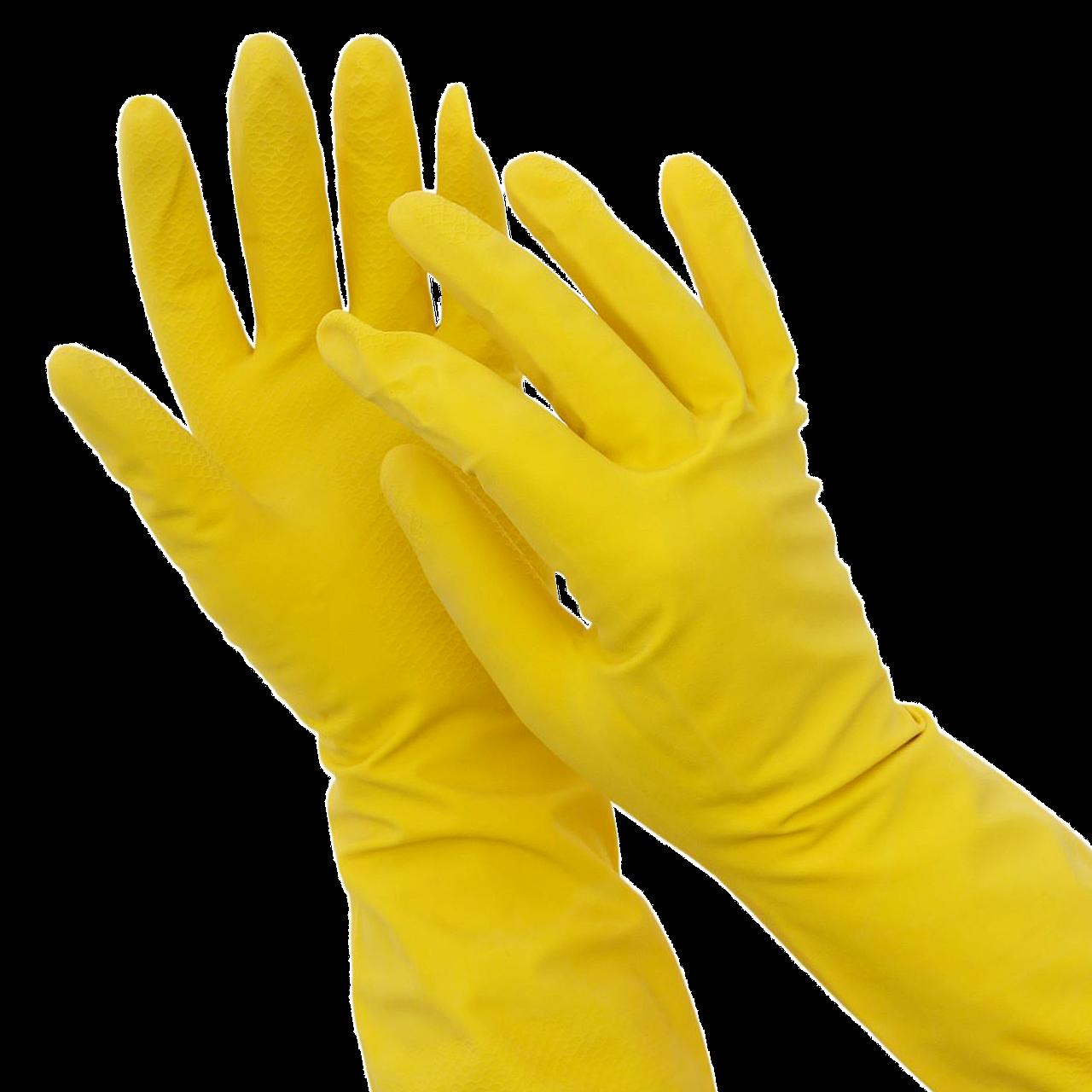 """Перчатки латексные для уборки """"HOZZI""""  L"""