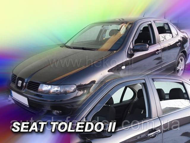 Дефлекторы окон (вставные!) ветровики Seat Leon I 1999-2005 4шт., HEKO, 28221
