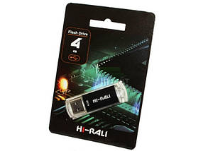 Флеш накопитель USB 4Gb Hi-Rali Rocket (V-Cut) series Black
