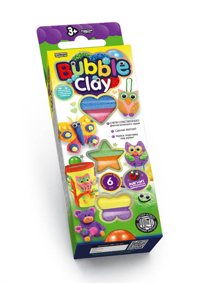 "Набор креативного творчества 7995DT ""Bubble Clay"", Оригинал"