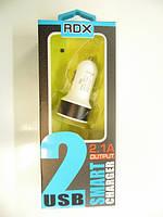 Автомобильное зарядное устройство RedDax RDX-111 3.4A 2 Usb + кабель Micro Usb QQC 3.0 (Long) Black