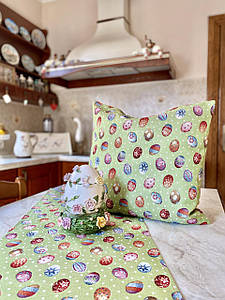 Наволочка гобеленовая декоративная пасхальная односторонняя 45 х 45 см
