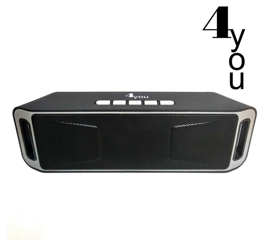 Портативная колонка BT506 4you (bluetooth, Micro SD, USB, FM) black/grey -ТОП Продаж!!!