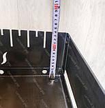 Мангал Вогник розкладний у валізу 3мм з ніжками на 10 шампурів ХВЗ, фото 9
